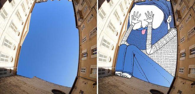 Gökyüzünü Tuval Olarak Kullanan Sanatçı