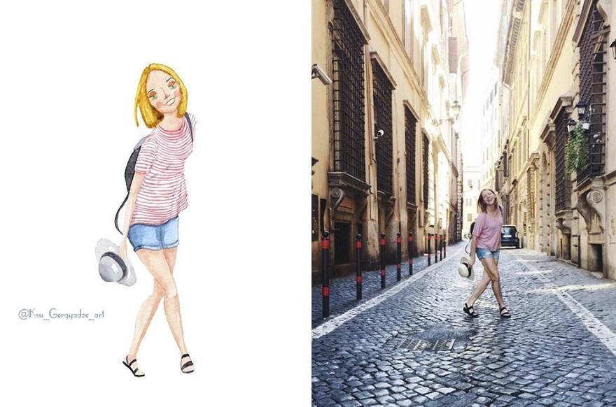 İnsanları Animasyon Karakterlerine Çeviren Sanatçı galerisi resim 15