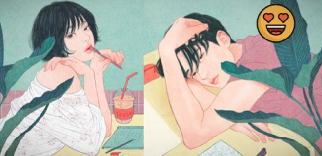 Koreli Sanatçıdan Romantik İllüstrasyonlar