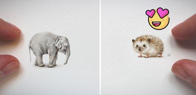 Minyatür Hayvan Çizimleri