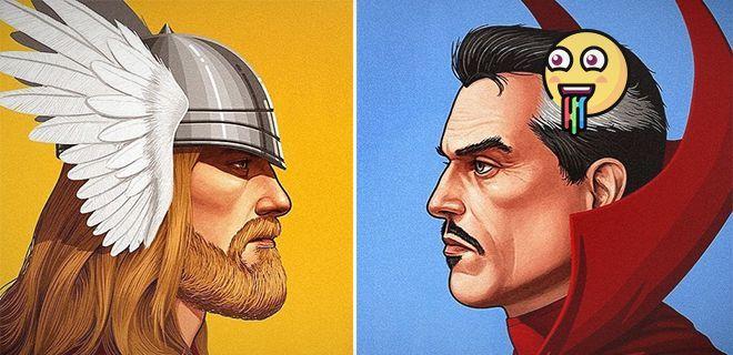 Marvel Karakterlerin Retro Posterleri