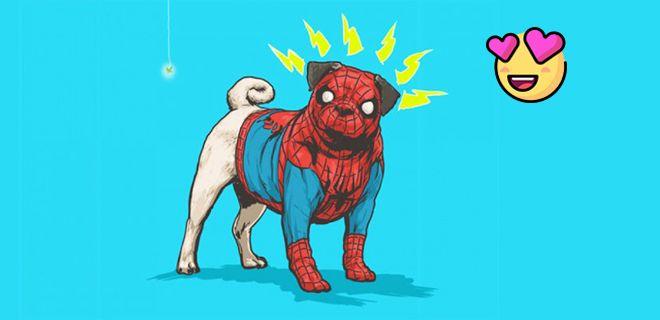 Marvel Karakterleri Sevimli Köpeklerle Birleşti