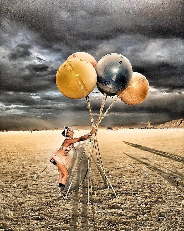 Burning Man 2017'den Renkli Kareler galerisi resim 8