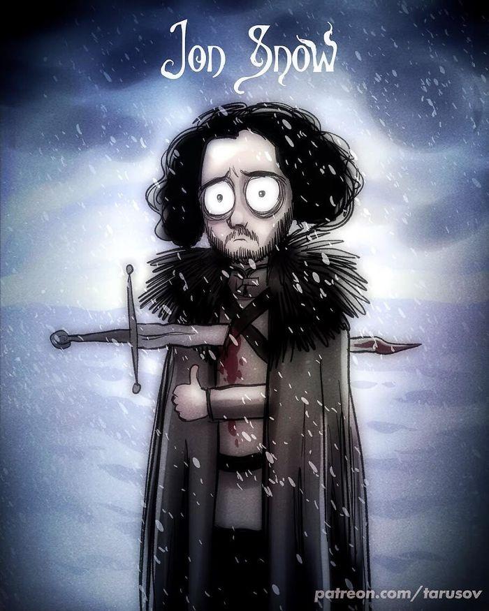 GoT Oyuncuları Tim Burton Karakterlerine Dönüşseydi.. galerisi resim 1
