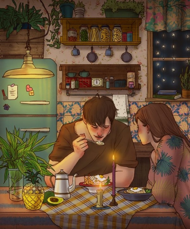 Aşkı Anlatan Koreli Sanatçı'dan Duygusal İllüstrasyonlar galerisi resim 18