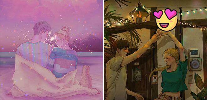Aşkı Anlatan Koreli Sanatçı'dan Duygusal İllüstrasyonlar