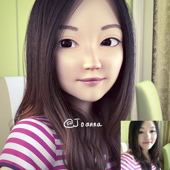 Resimleri 3D Çizgi Film Karakterlerine Dönüştüren Sanatçı galerisi resim 5