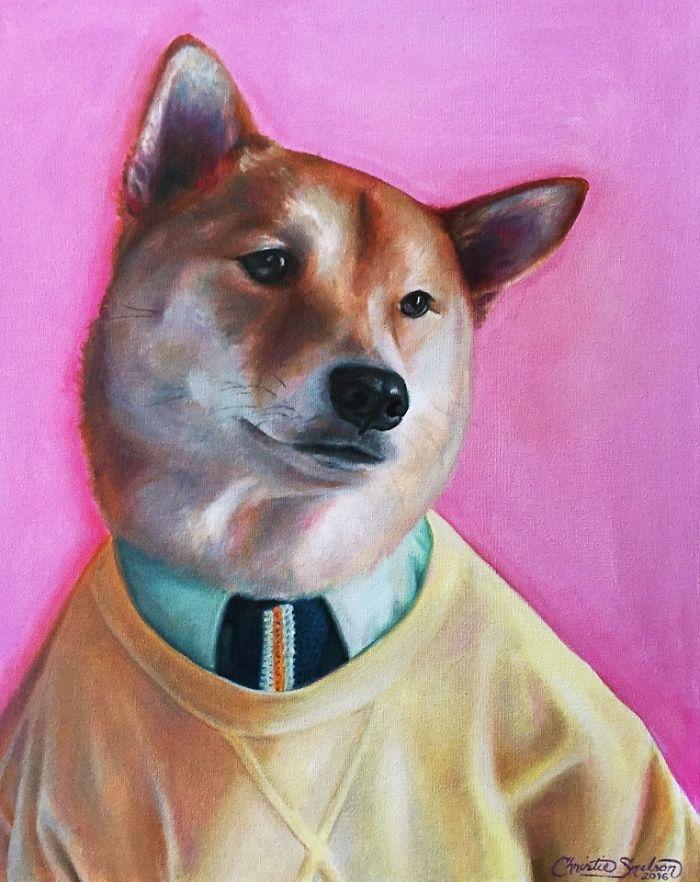 Minik Dostlarımızın Yağlı Boya Portreleri galerisi resim 12