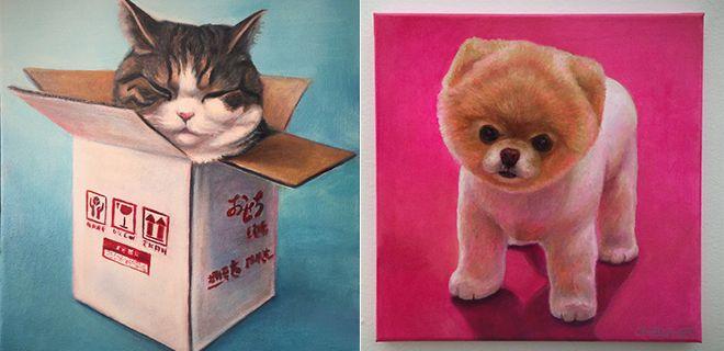 Minik Dostlarımızın Yağlı Boya Portreleri