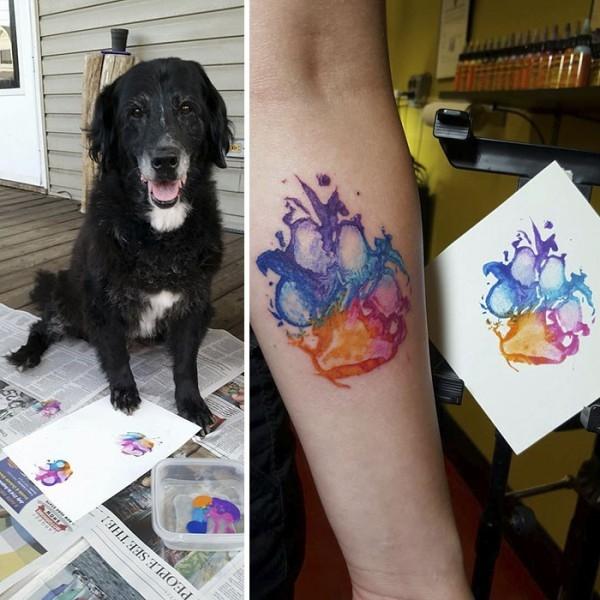 Köpeklerinin Pati İzini Dövme Yaptıran Hayvanseverler galerisi resim 7
