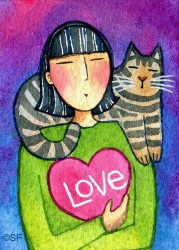 Kedili Kadınların Hayatlarını Aktaran Minimal Çizimler galerisi resim 10