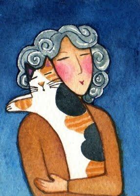 Kedili Kadınların Hayatlarını Aktaran Minimal Çizimler galerisi resim 11