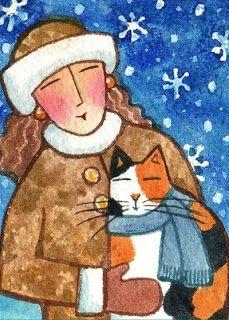 Kedili Kadınların Hayatlarını Aktaran Minimal Çizimler galerisi resim 15