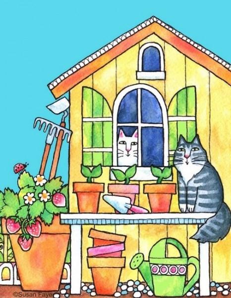 Kedili Kadınların Hayatlarını Aktaran Minimal Çizimler galerisi resim 16