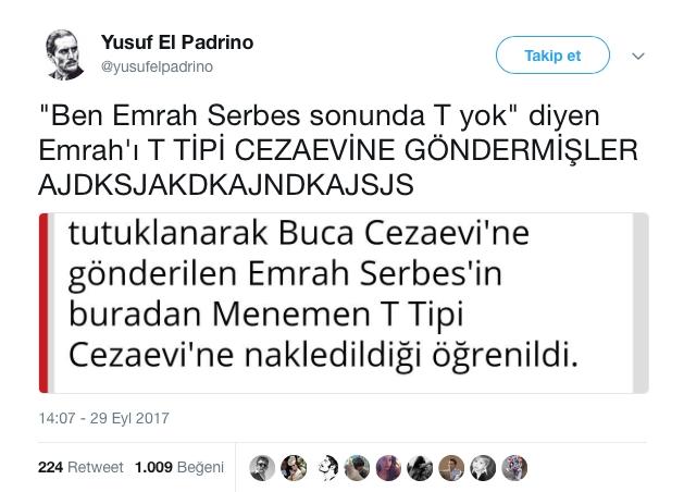 'Emrah Serbes Sonunda T Yok' Sözünü Tiye Alan Tweet'ler galerisi resim 11