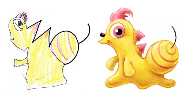 Çocuklarının Çizdiği Canavarları Çizgi Karakterlere Çeviren Sanatçı galerisi resim 20