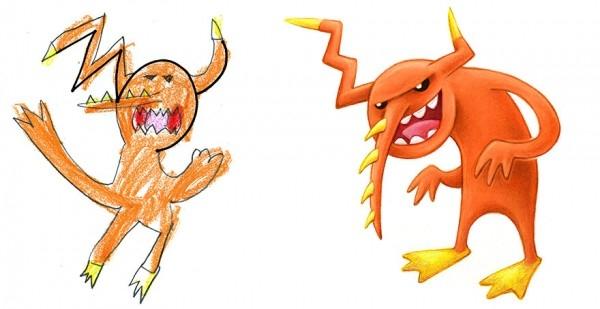 Çocuklarının Çizdiği Canavarları Çizgi Karakterlere Çeviren Sanatçı galerisi resim 6