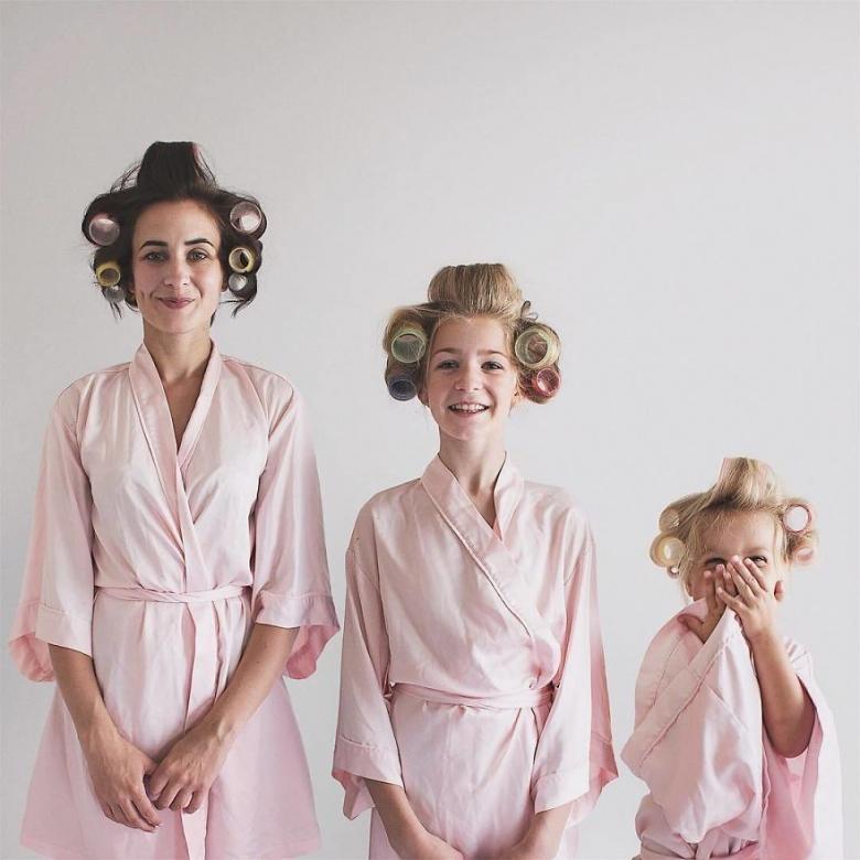 Anne ve Kızlarının Uyum İçerisindeki Sevimli Fotoğrafları galerisi resim 18