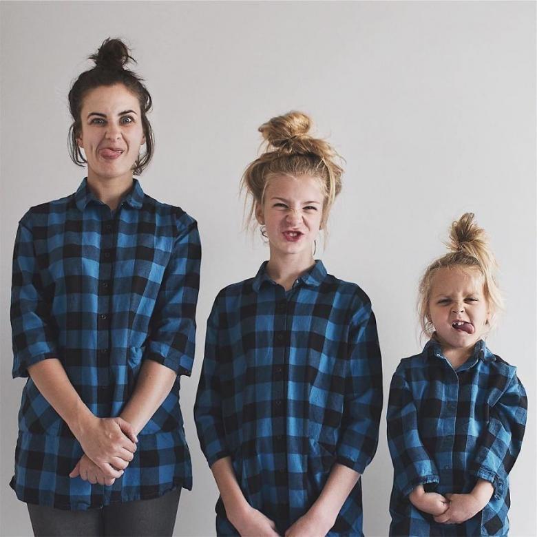 Anne ve Kızlarının Uyum İçerisindeki Sevimli Fotoğrafları galerisi resim 20
