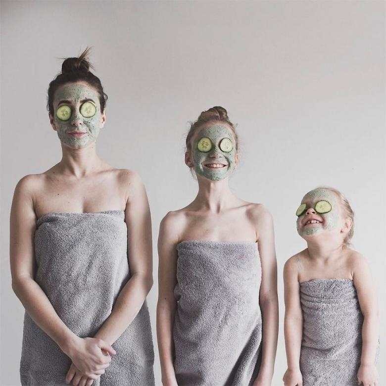 Anne ve Kızlarının Uyum İçerisindeki Sevimli Fotoğrafları galerisi resim 8