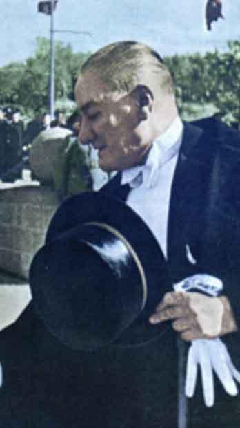 Renklendirilmiş Atatürk Fotoğrafları Çok Özel Resimler galerisi resim 38