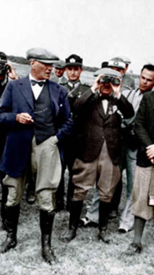 Renklendirilmiş Atatürk Fotoğrafları Çok Özel Resimler galerisi resim 41
