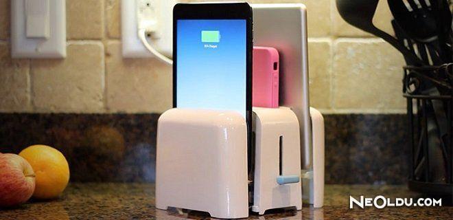 Telefonunuzu Şarj Edebilen Tost Makinesi