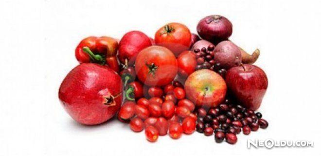 Kırmızı Meyve ve Sebzelerin Faydaları