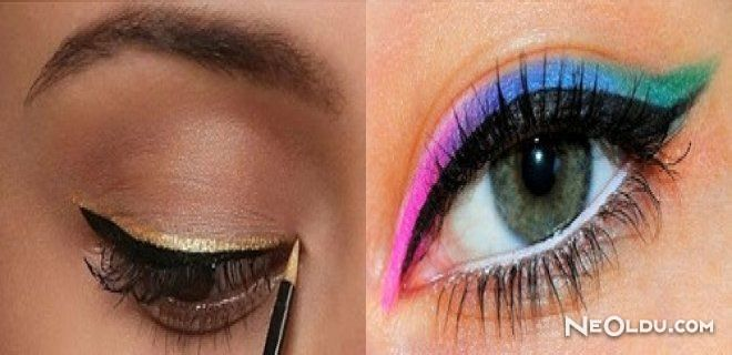 Renkli Eyeliner Trendi