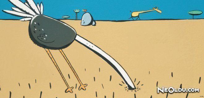 Deve Kuşu Neden Kafasını Kuma Gömer?