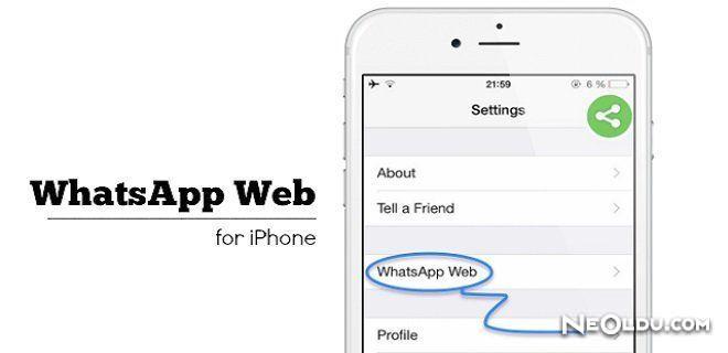 WhatsApp Web iPhone'da!