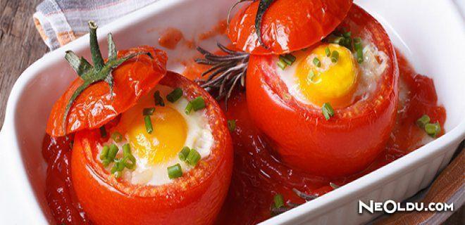 Fırında Yumurtalı Domates Tarifi