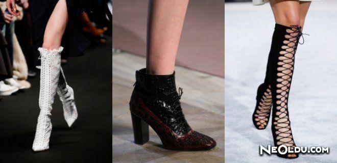 Lace Up Ankle Bot ve Çizmeler