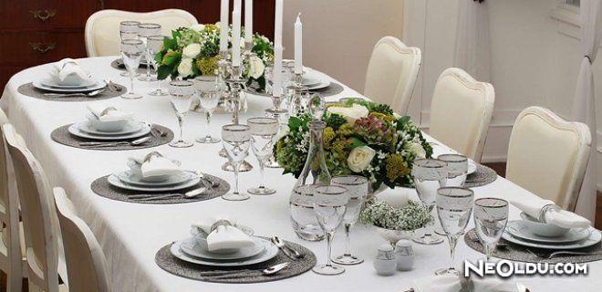 Yemek Masası Düzeni Nasıl Olmalıdır ?