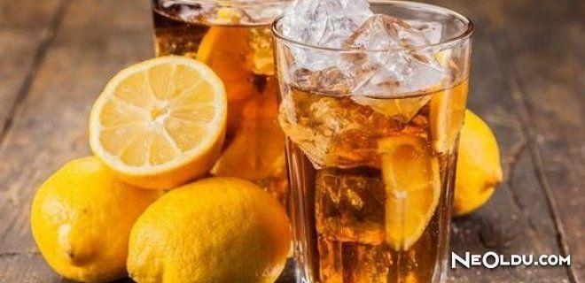 Ev Usulü Limonlu Buzlu Çay