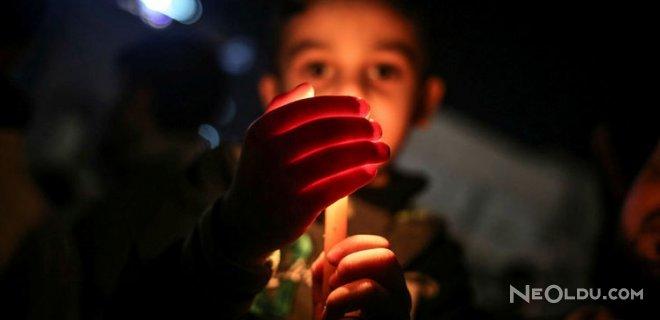 Gazze'de Prostesto İçin Mum Yaktılar