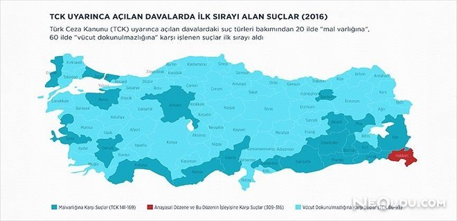 Türkiye'nin 'Suç Atlası' Çıkarıldı