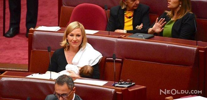 Avustralya Meclisinde Bebeğini Emzirdi