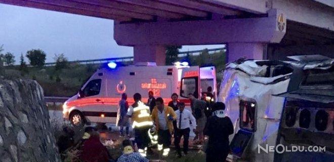 Çorum'da Otobüs Köprüden Uçtu: 48 Yaralı