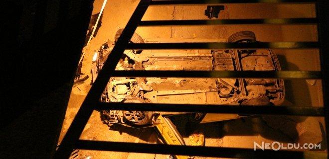 Ticari Taksi Alt Geçide Uçtu: 3 Yaralı
