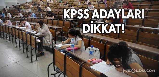 ÖSYM'den KPSS ÖABT Sınavı İçin Uyarı