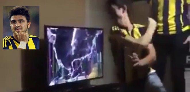 Ozan Tufan'a Sinirlendi TV'yi Parçaladı!