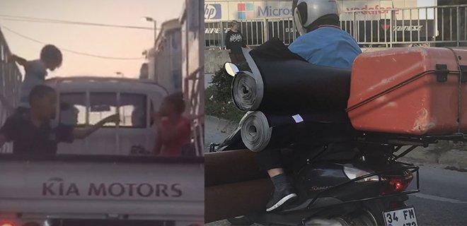 İstanbul'da Tehlikeli Yolculuğun Görüntüleri