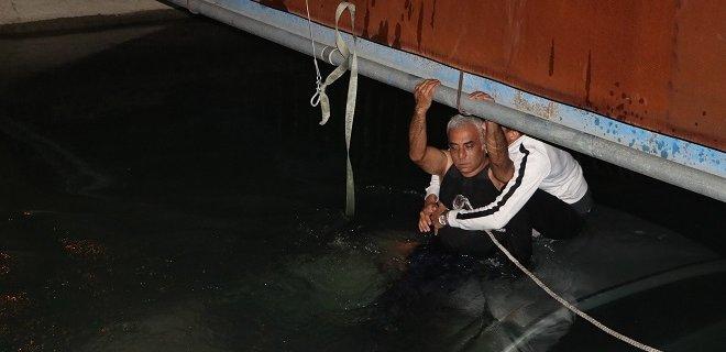 Kanala Uçan Alkollü Sürücü Ölümden Döndü