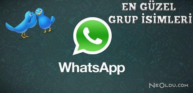 En Güzel Whatsapp Grup İsimleri