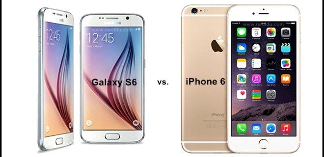 Galaxy S6 Iphone 6 Karşılaştırması