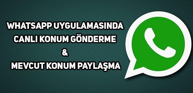 whatsapp yer belirleme
