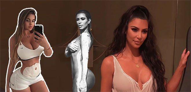 Kim Kardashian'a Olan Benzerlikleriyle Ünlenen Koca Kalçalı 7 Kadın!