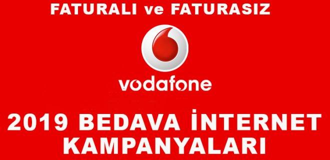 Vodafone Bedava İnternet Paketleri 2019