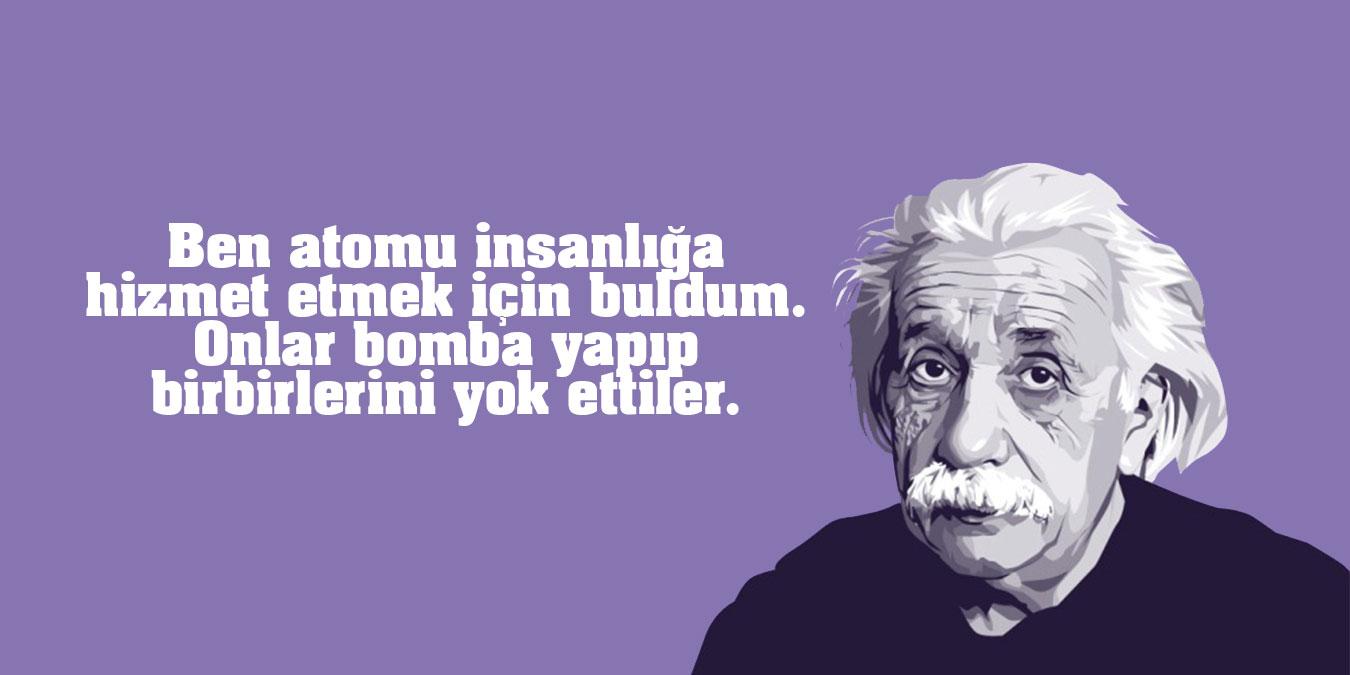 Albert Einstein Sözleri - En Güzel, Anlamlıi Mantıklı, Özlü, Resimli Albert Einstein Sözleri